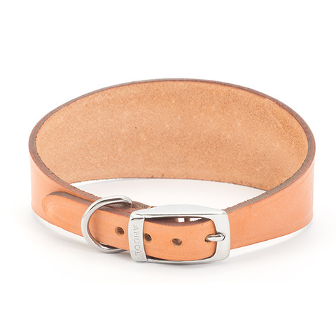 Ancol Heritage Leather Tan Whippet And Greyhound Buckle Dog Collar 35cm