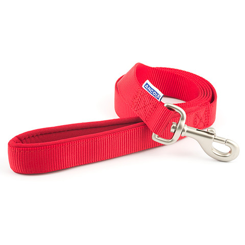 Ancol Heritage Padded Nylon Cushion Red Dog Lead 1.8mx25mm