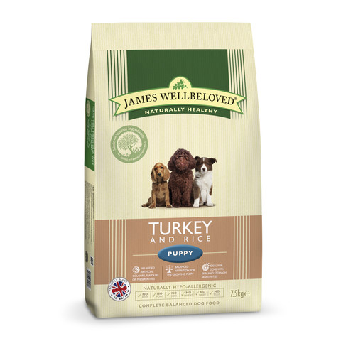 James Wellbeloved Puppy With Turkey And Rice 2kg To 2 X 15kg