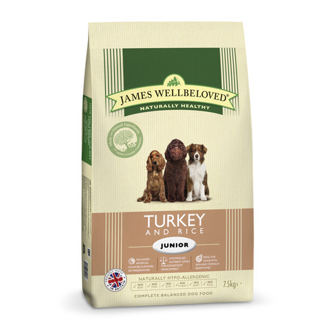 James Wellbeloved Junior Dog With Turkey And Rice 2kg To 2 X 15kg