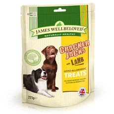 James Wellbeloved Lamb And Rice Crackerjacks Dog Treats 225g