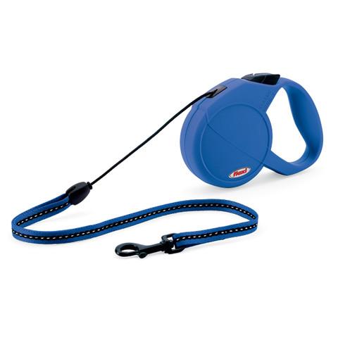 Flexi Classic Retractable Cord Dog Lead Blue - 8 Metres Small To Medium