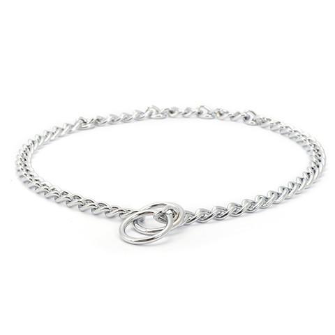 Ancol Heritage Medium Check Chain Dog Collar 40cm To 55cm