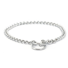 Ancol Heritage Heavy Check Chain Dog Collar 60cm To 65cm
