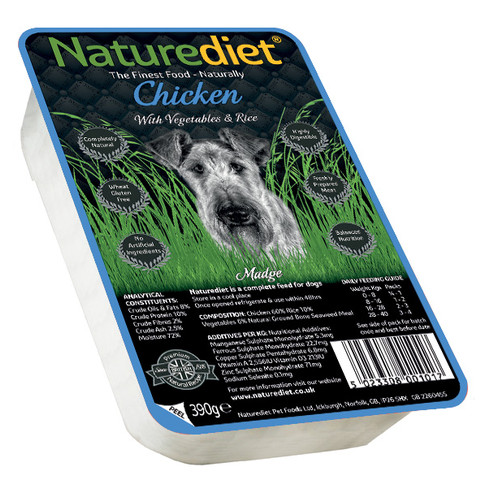 Naturediet Adult Dog Food With Chicken, Vegetables And Rice 18 X 390g
