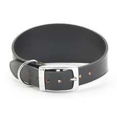 Ancol Heritage Leather Black Whippet And Greyhound Buckle Dog Collar 47cm