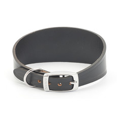 Ancol Heritage Leather Black Whippet And Greyhound Buckle Dog Collar 35cm
