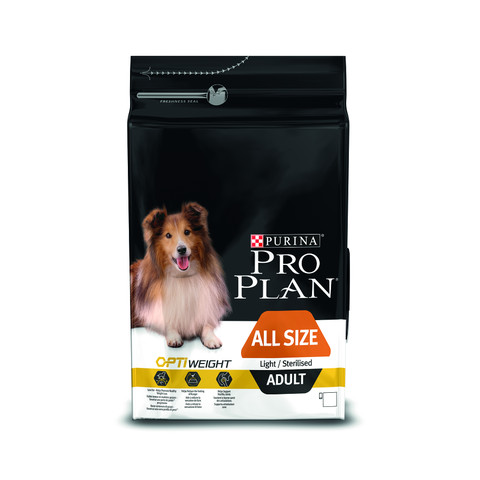 Pro Plan All Size Breed Optiweight Adult Light Sterilised Dog Chicken Dog Food 3kg To 14kg