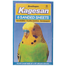 Kagesan Bird Cage No5 Blue Sandsheets 6-pack To 12 X 6-pack