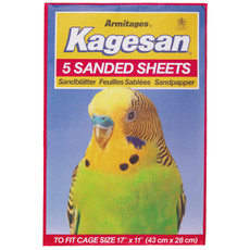 Kagesan Bird Cage No6 Red Sandsheets 5-pack To 12 X 5-pack
