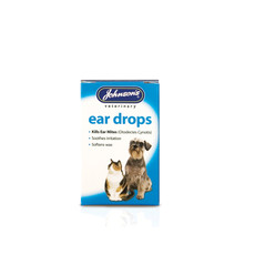 Johnsons Ear Drops For Cats And Dogs 15ml To 6 X 15ml