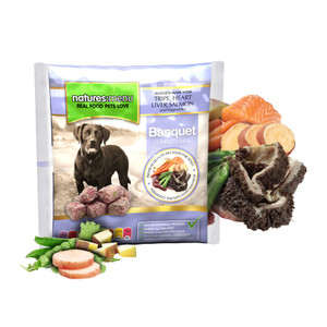 Natures Menu Frozen Dog Food Banquets Nuggets With Chicken Tripe & Lamb 1kg