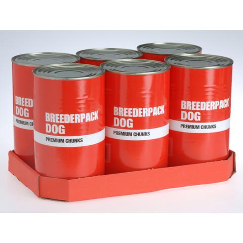 Breederpack Dog Premium Chunks Dog Food 6 X 1200g