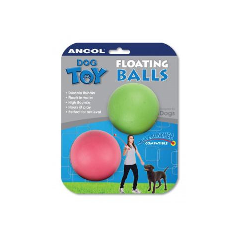 Rubber Floating Balls Dog Toy 6cm