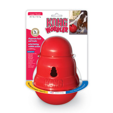 Kong Wobbler Dog Treat And Food Dispenser Toy