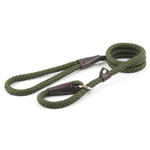 Ancol Heritage Nylon Green Rope Slip Dog Lead 1.2cmx1.5m
