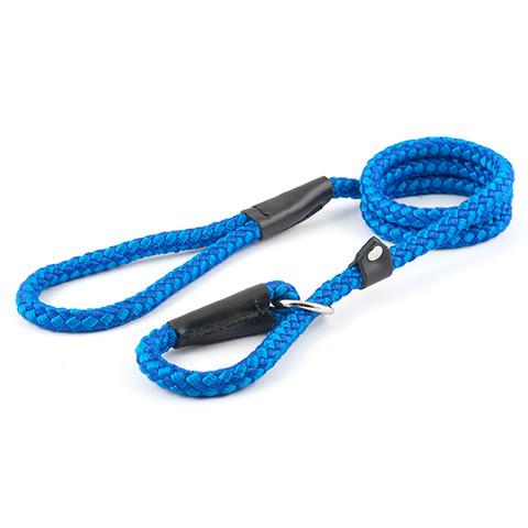 Ancol Heritage Nylon Blue Rope Slip Dog Lead 1.2cmx1.5m