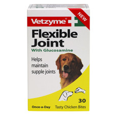 Vetzyme Flexible Joint Supplement Tablets For Dogs 30 Tabs