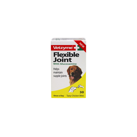 Vetzyme Flexible Joint Supplement Tablets For Dogs 30 Tabs To 6 X 30 Tabs