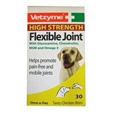 Vetzyme High Strength Flexible Joint Supplement Tablets For Dogs 30 Tabs