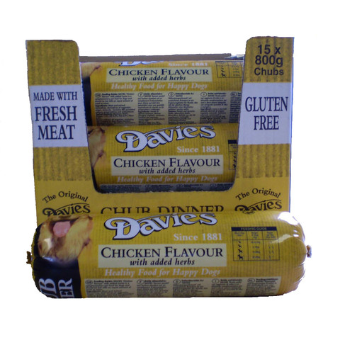 Davies Brawn Chicken Chub Roll 15 X 800g