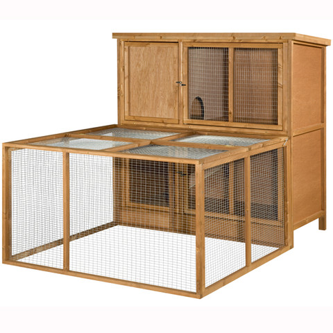 The Hutch Company Guinea Pig Compatible Small Animal Run 4x4x2ft