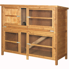 The Hutch Company Double Guinea Pig & Rabbit Hutch 5x4x2ft