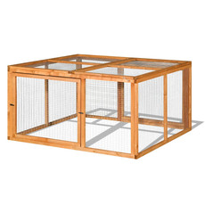 The Hutch Company Wooden Guinea Pig & Rabbit Run 4x4x2ft