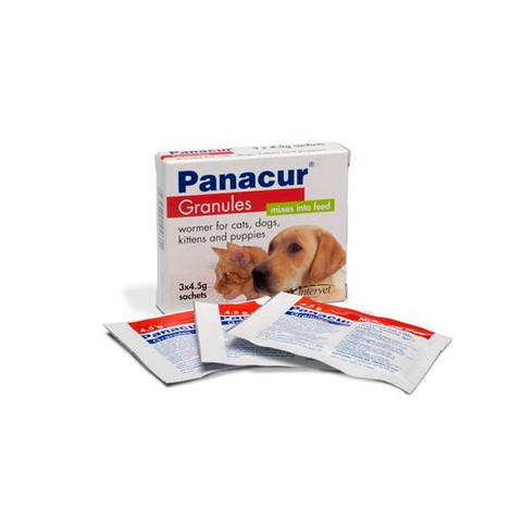 Panacur Dogs, Cat, Puppies And Kittens Worming Granules 3x4.5g