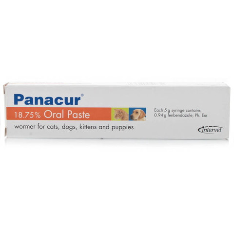 Panacur Dogs, Cats, Puppies And Kittens Oral Worming Paste 18.75% 5g Tube