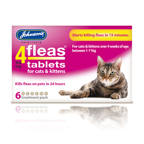 Johnsons 4fleas Tablets For Cats & Kittens 6 Tablets