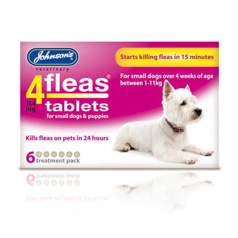 Johnsons 4fleas Tablets For Puppies And Small Dogs 6 Tablets