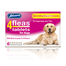 Johnsons 4fleas Tablets For Dogs 6 Tablets
