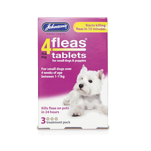 Johnsons 4fleas Tablets For Puppies And Small Dogs 3 Tablets