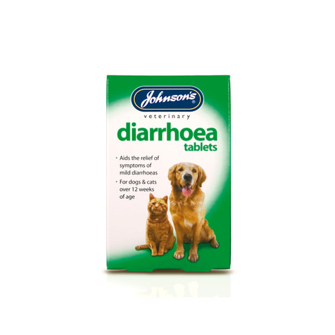 Johnsons Diarrhoea Tablets For Dogs And Cats 12tab To 6 X 12tab