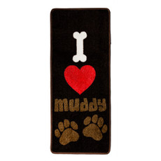 Pet Rebellion I Love Muddy Paw Non Slip Rug Doormat 45x100cm
