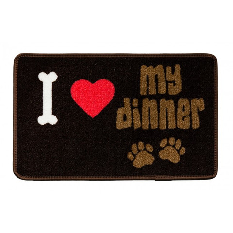 Pet Rebellion I Love My Dinner Non Slip Dinner Mat 40x60cm