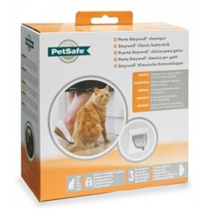 Staywell Classic Manual 917 4 Way Locking Cat Flap In White With Tunnel
