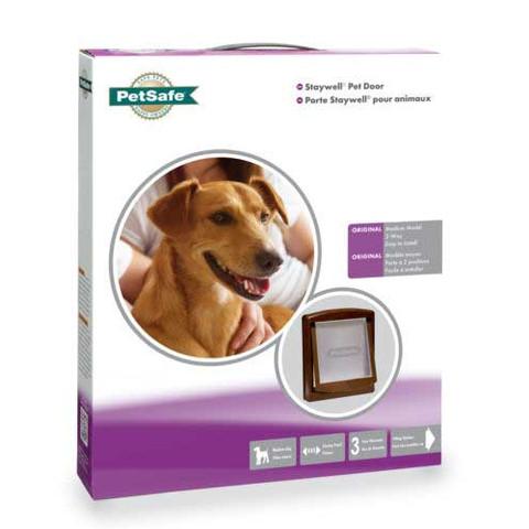 Staywell Original 2 Way 755 Medium Pet Door In Brown