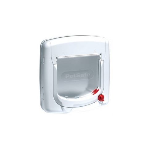 Staywell Manual 4 Way Locking Deluxe 300 Cat Flap In White Small