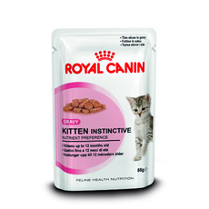 Royal Canin Kitten Instinctive Cat Food In Gravy Pouches 12 X 85g