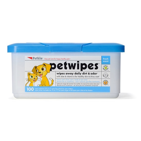 Pet Wipes Tub For Cats And Dogs 100 Pack