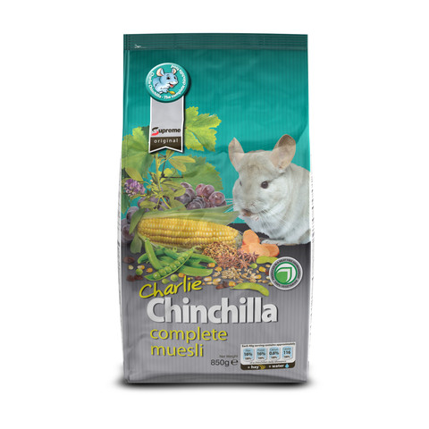 Supreme Charlie Chinchilla Food 2.5kg To 12.5kg