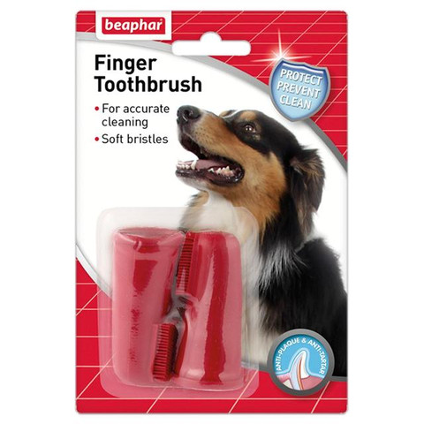 Beaphar Finger Toothbrush For Dogs And Cats 2 Pack