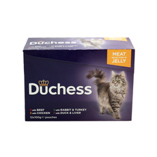 Duchess Adult Cat Pouches Meat In Jelly 12x100g To 4 X 12x100g