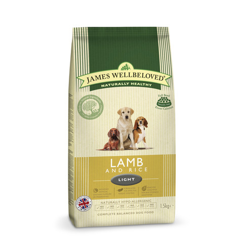 James Wellbeloved Adult Light With Lamb And Rice 1.5kg To 2 X 12.5kg
