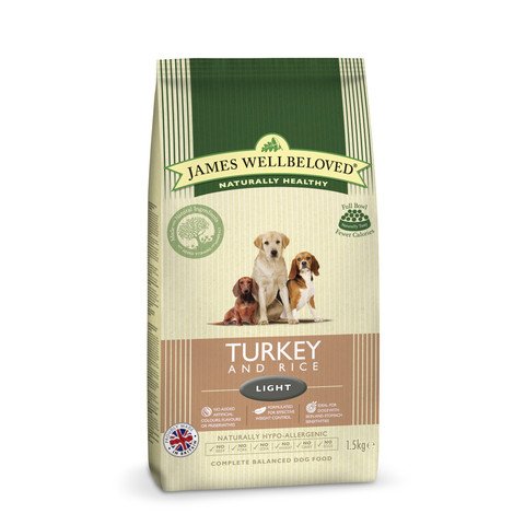 James Wellbeloved Adult Light With Turkey And Rice 1.5kg To 2 X 12.5kg