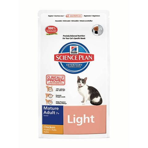 Hills Science Plan Feline Mature Adult 7+ Light Chicken 1.5kg
