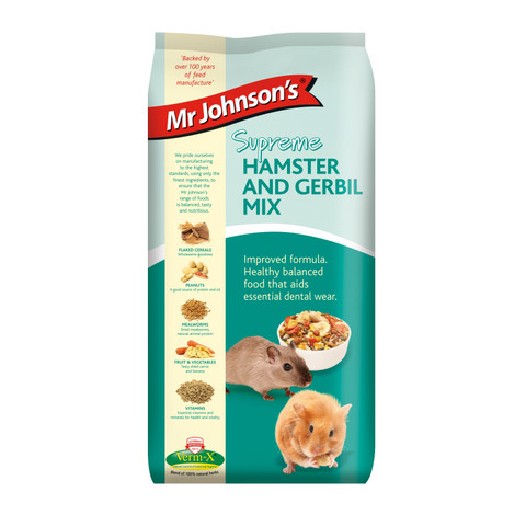 Mr Johnsons Supreme Hamster And Gerbil Mix Food 900g To 6 X 900g