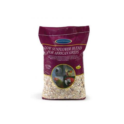 Johnston & Jeff African Grey Low Sunflower Diet 12.5kg